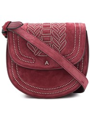 Altuzarra Crossbody Saddle Bag Red