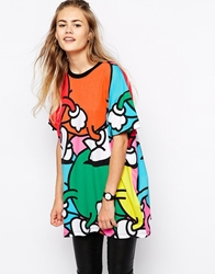 Lazy Oaf Oversized Boyfriend T Shirt Cartoon Print