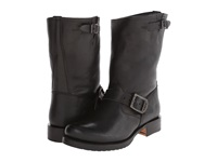 Frye Veronica Shortie Black Waxy Tumbled Leather Cowboy Boots