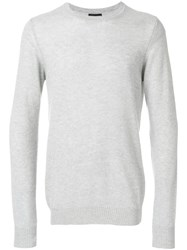 Emporio Armani Slim Fit Sweater Grey