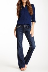 7 For All Mankind Studded Rocker Slim Bootcut Jean Blue