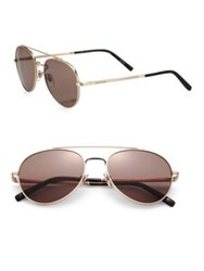 Montblanc Round Aviator Sunglasses Rose Gold
