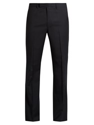 Raf Simons Slightly Flary Wool Trousers Dark Navy