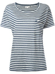 Chinti And Parker Breton Stripe T Shirt Blue