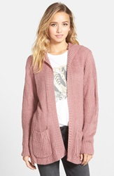 Element 'Laurel' Hooded Cardigan Dusty Pink