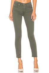 7 For All Mankind The Ankle Skinny Olive