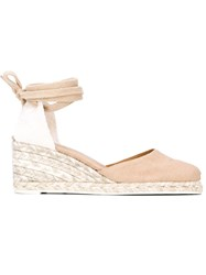 Castaner Castaner 'Carina' Wedge Espadrilles Nude And Neutrals