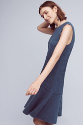 Knitted And Knotted Odette Wool Dropwaist Dress Blue