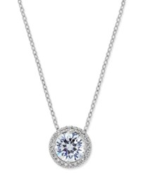 Eliot Danori Silver Tone Crystal Pendant Necklace