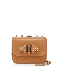 Christian Louboutin Sweet Charity Studded Calfskin Shoulder Bag Biscuit Women's Biscuit Gold