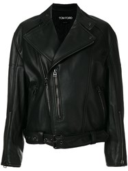 Tom Ford Biker Jacket Women Silk Lamb Skin Polyester S Black