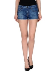 Gold Case Denim Shorts Blue