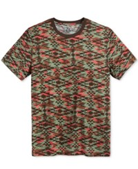 American Rag Men's Southwestern Camouflage Print T Shirt Only At Macy's Rich Chocolate
