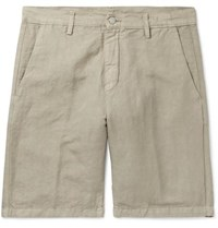 68dc7035827 Massimo Alba Linen And Cotton Blend Shorts Green