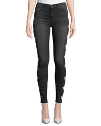 Black Orchid Gisele High Rise Super Skinny Jeans With Stars Black Pattern