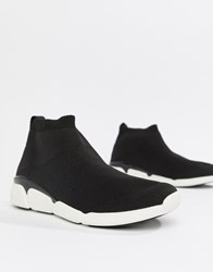 Aldo Black Sock Trainers With Chunky Soles