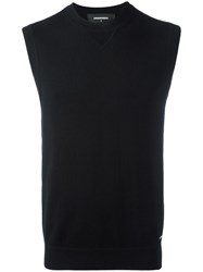 Dsquared2 Welt Finishing Sweater Vest Black