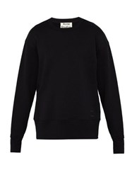 Acne Studios Fayze Logo Printed Cotton Sweatshirt Black