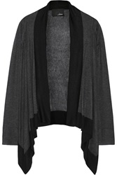 Line Surrounded Draped Modal And Cashmere Blend Cardigan Gray