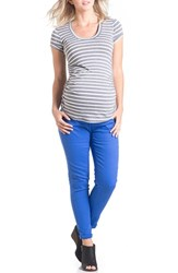 Women's Lilac Clothing 'Hailey' Ruched Maternity Tee Grey