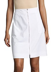 Lafayette 148 New York Solid Cotton Blend Skirt White