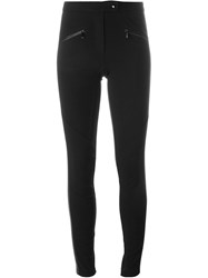 Barbara Bui Faux Leather Panel Leggings Black