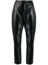 Drome Straight Leather Trousers Black