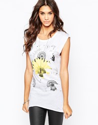 Aka Sunflower Vest Top White