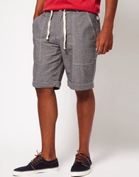Bellfield Shorts With Chambray Tie Gray