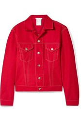Helmut Lang Denim Jacket Red