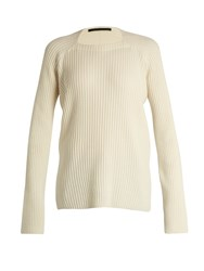 Haider Ackermann Invidia Wool And Cashmere Blend Sweater White