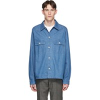 Paul Smith Ps By Blue Denim Over Shirt Md Denim