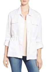 Vince Camuto Women's Two By Relaxed Linen Cargo Jacket