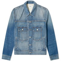 Ambush Washed Logo Denim Jacket Blue
