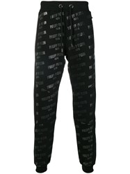 Philipp Plein Logo Drawstring Track Trousers Black