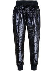 Cinq A Sept Giles Sequinned Trousers Blue