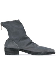Guidi Back Zip Boots Men Calf Leather Leather 45 Grey