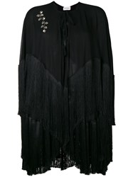 Magda Butrym Lamar Fringed Cape Black