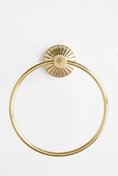 Anthropologie Fluted Towel Ring Bronze