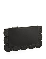 Bcbgmaxazria Logo Leather Clutch