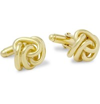 Lanvin Knotted Gold Plated Cufflinks Gold