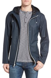 Cole Haan Men's Rubberized Hooded Jacket Navy