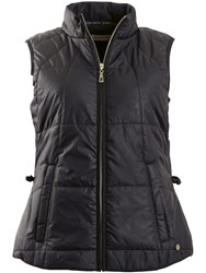 Green Lamb Joyce Embossed Padded Gilet Black
