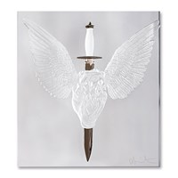 Lalique Eternal Prayer Panel Clear And Platinum