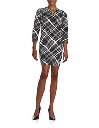 Essentiel Graphic Shift Dress Grey