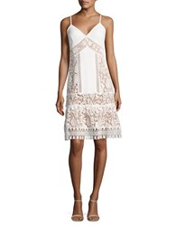 French Connection Drop Waist Crocheted Dress Summer White
