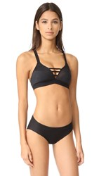 Cosabella Bisou Cross Front Bra Top Black