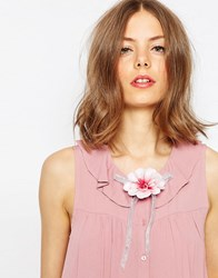 Asos Flower Bow Hair And Body Corsage Pink