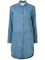 Rag And Bone Jean Denim Shirt Dress Blue