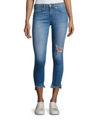 Rag And Bone Capri Distressed Denim Jeans Indigo